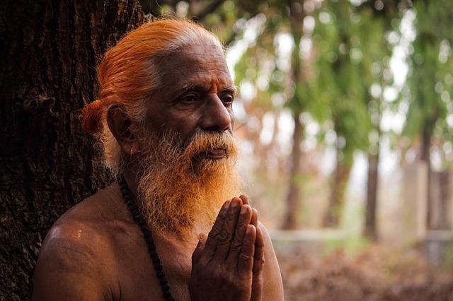 image of man praying.