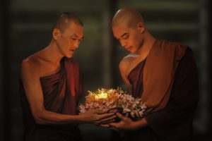 image of two monks who are ligth workers.